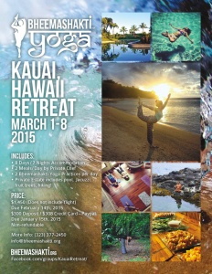 Bheemashakti Yoga Kauai 2015 retreat.