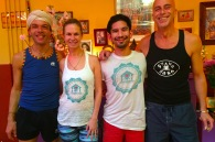 Gösta, Uta, Troy and Patrick, Svaha Yoga Amsterdam, 2015