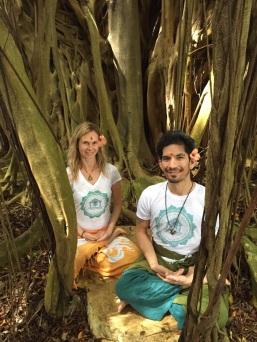 Uta and Troy, Kauai Hindu Monastery 2015