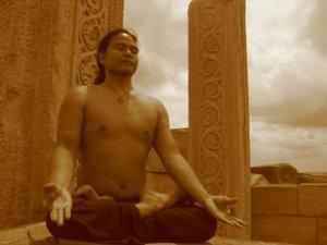 Jonathan, meditating.